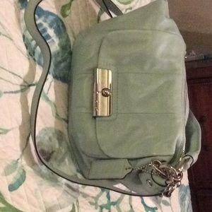 Coach light blue leather purse NWT